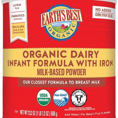 Earth's Best Organic Infant Powder Formula, 23.2 Ounces