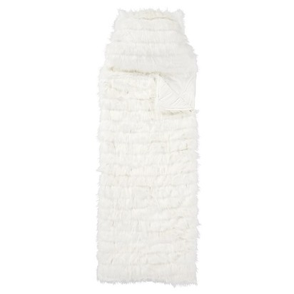 Monique Lhuillier Channel Fur Sleeping Bag - Ivory