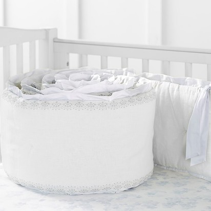 Monique Lhuillier Something Blue Baby Bedding - Bumper