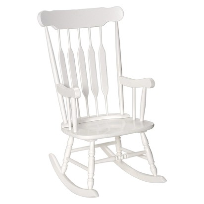 Adult Wooden Rocking Chair - Gift Mark - White
