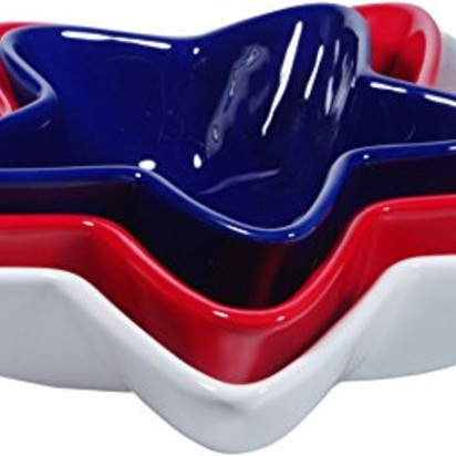 Sarah and nathan blueprint registry amazon home essentials set of 3 red white blue stars serving bowls malvernweather Image collections