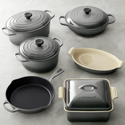 Marc troisi frank exposito wedding blueprint registry le creuset cast iron and stoneware 10 piece set in french grey malvernweather Image collections