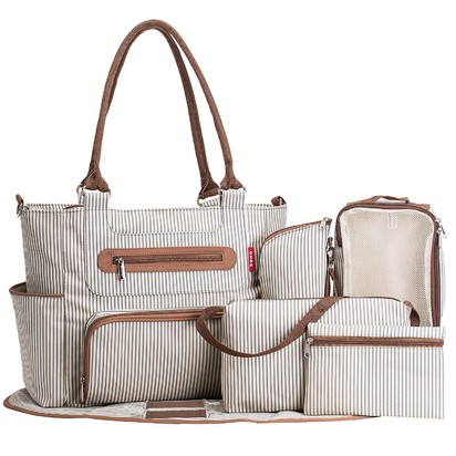 SoHo Grand Central Station 7-piece Diaper Bag