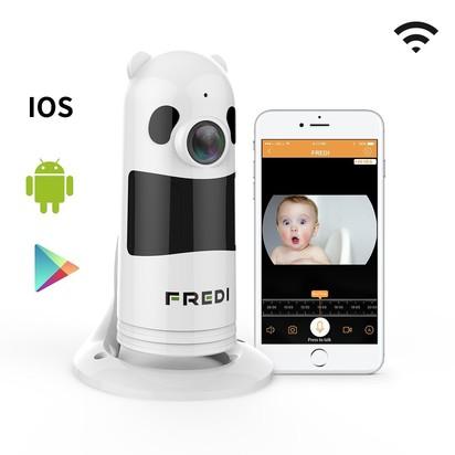 FREDI Wireless WIFI Baby Monitor with 1080p Surveillance Camera