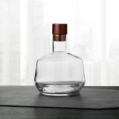 Hotel Collection Decanter with Wood Stopper