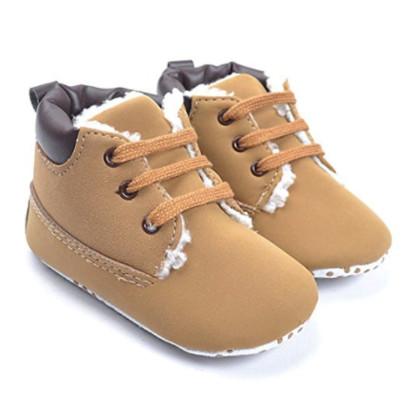 Kuner Baby Boy's Brown Warm Snow Short Boots, 0-18 Months