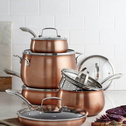 Belgique Copper Translucent 11-Piece Cookware Set