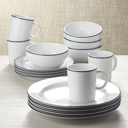 Sam and maria porter wedding blueprint registry roulette blue band 16 piece dinnerware set malvernweather Gallery