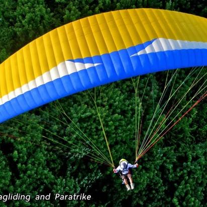 Kellen watson ryan johnstons wedding blueprint registry parasailing over the volcano malvernweather Images