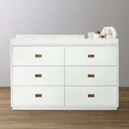 Baby girl chilvers fang blueprint registry avalon wide dresser topper set malvernweather Images
