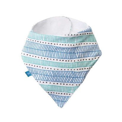 Magnetic Bandana Bibs - Teal Tribal