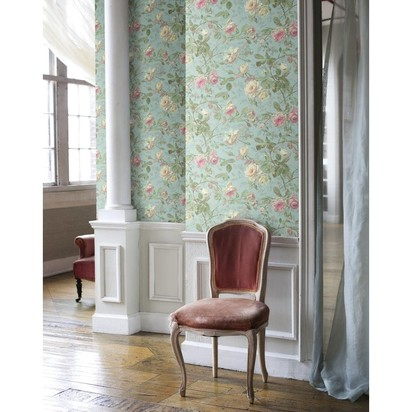 York Wallcoverings SH5503 Vintage Luxe Floral Wallpaper
