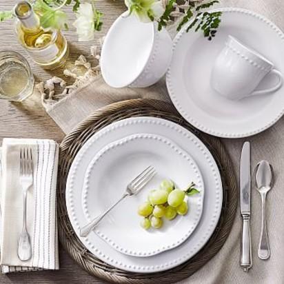 Emma Dinnerware 16 Piece Set with Cereal Bowl - True White & Forman McCracken Wedding - Blueprint Registry