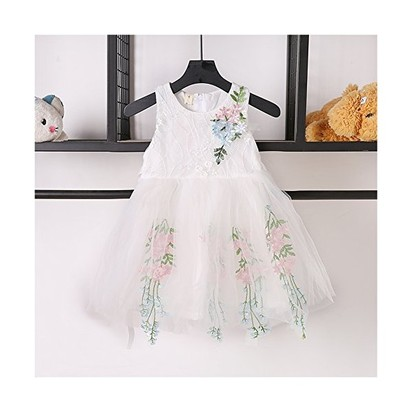 894748ae1a863 BOBORA Baby Girls' Rose Lace Mesh Princess Tutu Dress (XS/6-12M