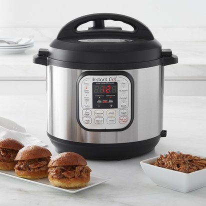Instant Pot Duo60 7-in-1 Multi-Use Programmable Pressure Cooker, 6-Qt.