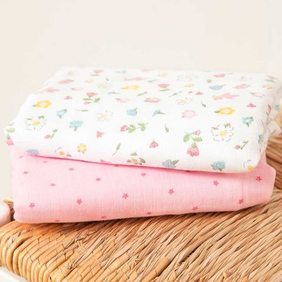 2-Pack Extra Large Floral Swaddle Blankets