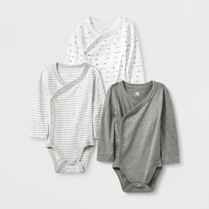 5d19f55c95d1 Baby 3pk Side Snap Bodysuits - Cloud ...