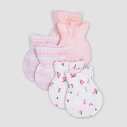 b1d65d1f6 Burt's Bees Baby® Organic Cotton Girls' 3pk Mittens ...