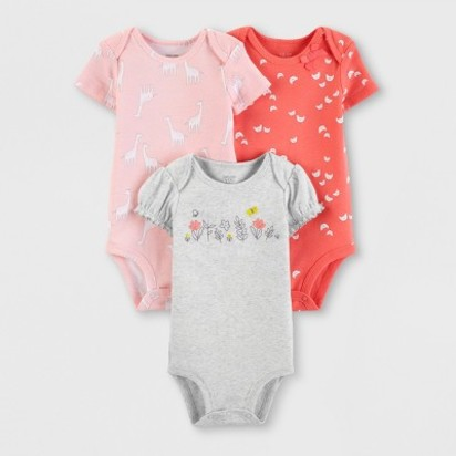 a0199044a Baby Girls' 3pk Bodysuits - Just One You® made by carter's Pink/Orange