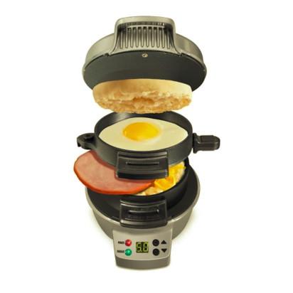 Hamilton Beach Breakfast Sandwich Maker with Timer - Dark Gray